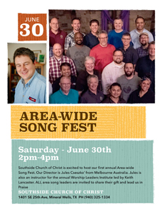Area Wide Song Fest 2018